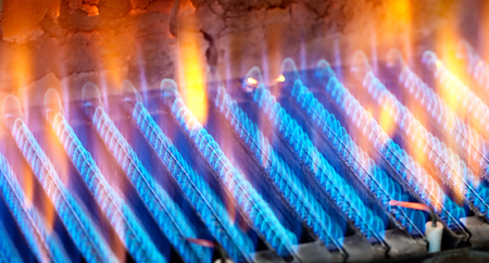 Yellow & Blue flame from furnace inspection